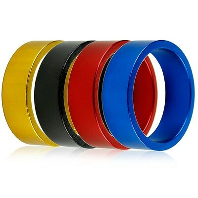 10mm High Quality Aluminum Bike Bicycle Toothed Headset Stem Spacer U@