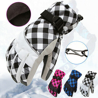 Women Men Winter Warm Outdoor Windproof Waterproof Snow Skiing Cycle Gloves U@