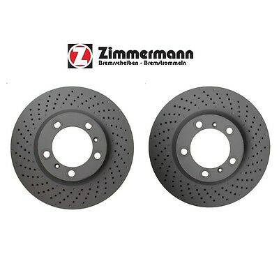 For Porsche 911 Boxster Cayman Pair Set of Front Left & Right Disc Brake Rotors