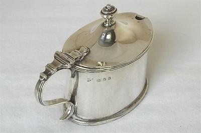 A Large Solid Sterling Silver Mustard Pot With Liner By Richard Comyns Date 1933