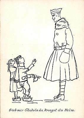 C21/ German Military Empire Foreign Postcard Germany Continental du Helm Kids 22