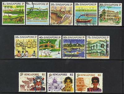 Singapore 1990 Tourism Used Short Set Of 12 Cat £15+