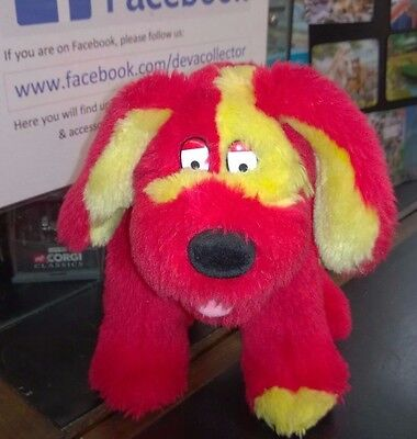 Tweenies Red Doodles soft toy dog great condition Hasbro 1999