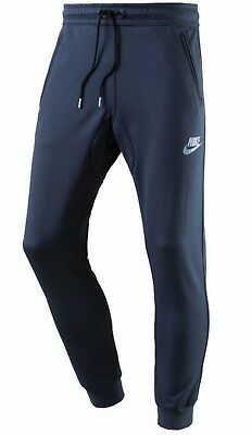 Nike Herren Fitness Sport Trainingshose NSW AV15 Fleece Pant blau