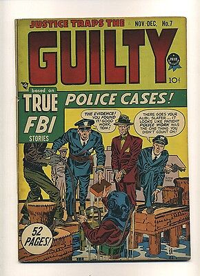 Justice Traps the Guilty #7 (VG) 1948 Prize Simon Kirby Golden Age (c#10390)