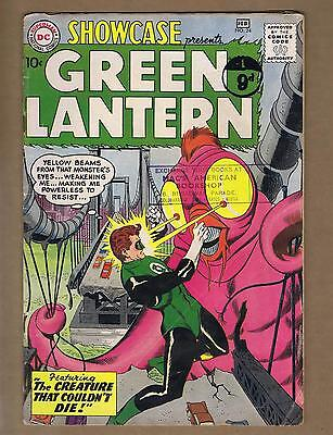 Showcase 24 (GVG, Solid!) 3rd App. GREEN LANTERN! 1960 D.C. stamps-c (id# 14158)