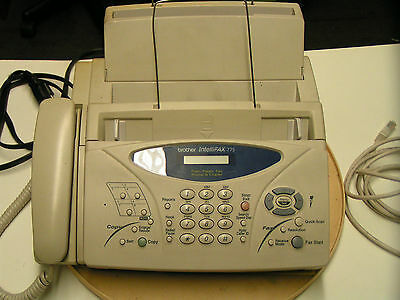 Brother Intellifax 775 Plain Paper Fax, Phone, & Copier - Used