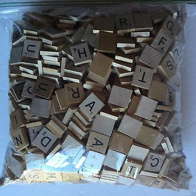 Huge Lot of 1,500 Wood Scrabble Wooden Tiles Squares Crafts Projects Jewelry