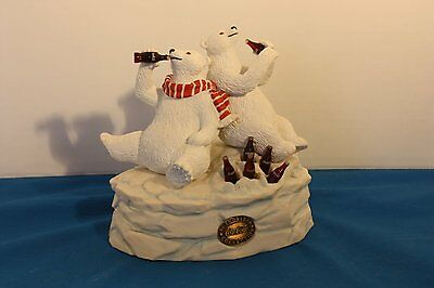 Coca Cola Heritage Collection Musical Polar Bear And Friends Figurines  #23001