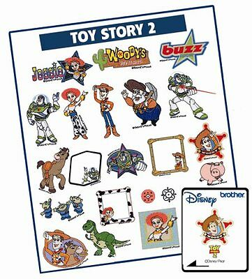 Brother Memory Card Featuring PIXAR TOY STORY II Embroidery Designs NEW!
