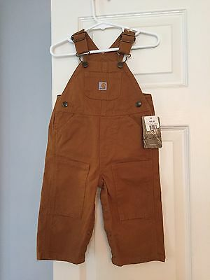 NWT CARHARTT Infant Brown Overalls Jeans Size 9 months