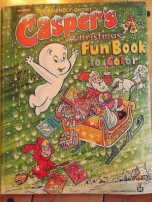 Vintage 1974 Rand McNally Casper's The Friendly Ghost Christmas Fun Book To Colo