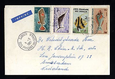 14983-COTE FRANÇ.des SOMALIS-LETTER COVER DJIBOUTI to HOLLAND.1965.FRENCH coloni