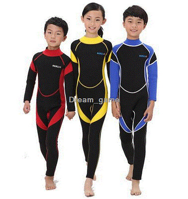 2.5MM Neoprene Warm Wetsuits Kids Diving Suits Surfing Boys Girls Swimsuits Gift