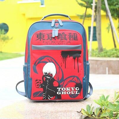 1PC Anime Tokyo Ghoul Pattern Backpack Red Students School Bag Travel Bag Unisex