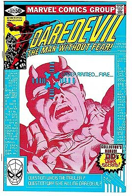 DAREDEVIL #167 (NM-) Frank Miller Art! Man Without Fear! High Grade! Bronze-Age!