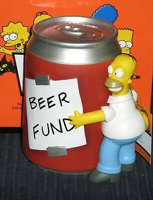 New! WESTLAND THE SIMPSONS HOMER AND BEER RESIN BANK #17538 2009