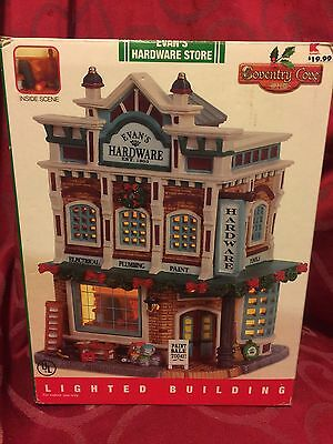 LEMAX Christmas Village EVAN'S HARDWARE STORE Rare COVENTRY COVE in Box AS-IS