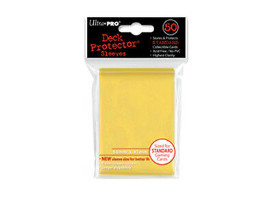 ULTRA PRO Deck Protector - Standard 50ct Solid Yellow - 50 Protector Sleeves