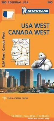 USA West Canada West 9782067184701 (Sheet map, folded, 2013)