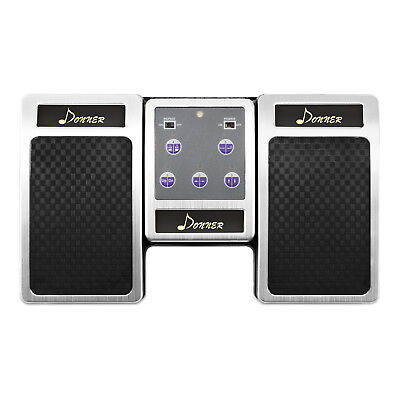 Donner Bluetooth Page Turner Pedal for Tablets Rechargeable Silver