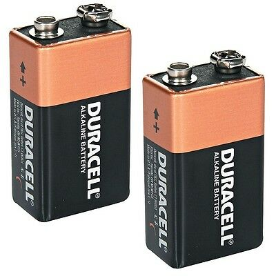 2 x DURACELL 9V PP3 Heavy Duty Block Alarm MN1604 Battery Batteries Alkaline