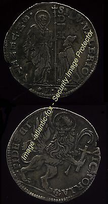 1694 ITALIAN STATES,  VENICE Rare Silver  LEONE (Crown) good to very good