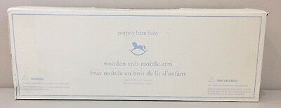 NEW Pottery Barn Kids Baby White WOODEN CRIB MOBILE ARM ~ Mobile Not Included.