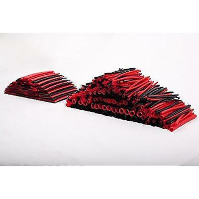 SummitLink 428 Pcs Red Black Assorted Heat Shrink Tube 10 Sizes Tubing Wrap