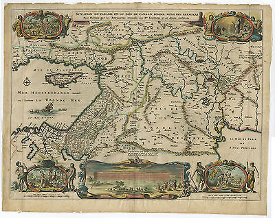 Antique Print-CANAAN-ISRAEL-HOLY LAND-MOSES-EGYPT-40 YEARS-Elzevier-Berchem-1669