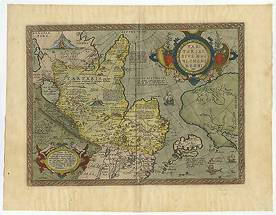 Antique Print-TARTARIAE-ASIA-JAPAN-TARTARY-NORTH AMERICA-Ortelius-c. 1580