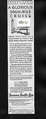 Panama Pacific Line Glorious 5,000 Mile Cruise Great Electric Liners 1930 Ad