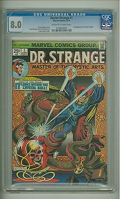 Doctor Strange #1 (CGC 8.0) OW/W pages; 1st app. Silver Dagger; 1974 (c#13409)