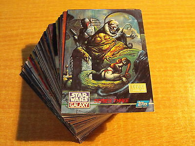 Star Wars Galaxy Series 3 Complete Set Of 90 First Day Cards