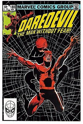 DAREDEVIL #188 NM 1st New BLACK WIDOW Cover Appearance! 1st Stone, Shaft & Claw!