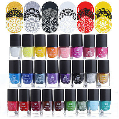 BORN PRETTY Nail Art Stamping Polish Manicure Stamp Plate Printing Varnish