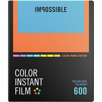 Impossible Instant Color Film for Polaroid 600-Type Cameras with White