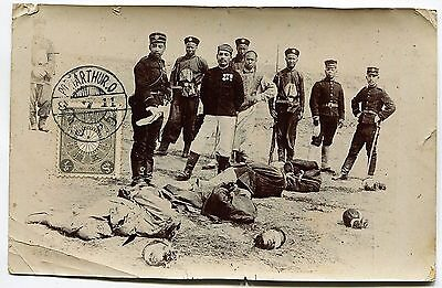 """1904/05 Russia Japan War in Manchuria,""""execution by beheadings"""",real photo RRR!"""