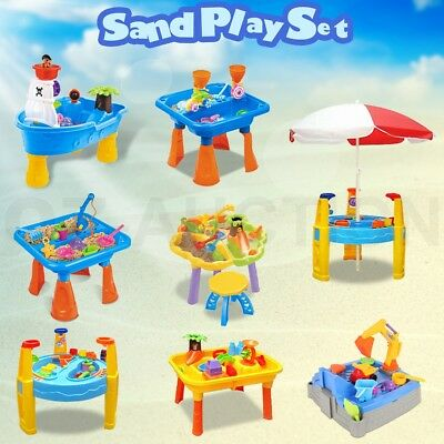 Kids Sand and Water Children Activity Play Table Outdoor Toy Set