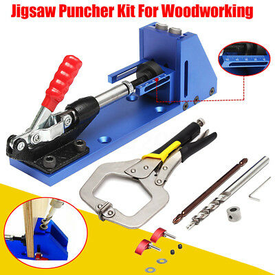 Pocket Hole Jig Drilling System + Clamp Woodworking Joinery Carpentry Guide Tool