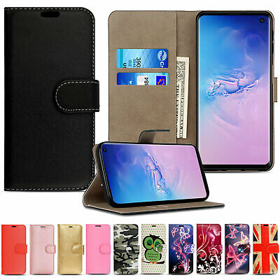 For Samsung Galaxy S9 S8 Leather Wallet Book Flip Protect Case Stand Phone Cover