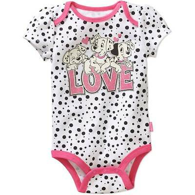 DISNEY 101 DALMATIANS BABY one PIECE SIZE NB 0/3 3/6 6/9 12 MONTHS NEW!