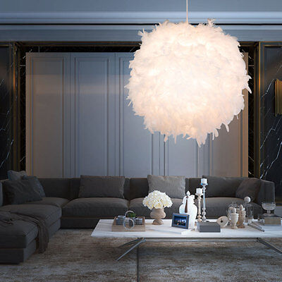 Hanging Lighting Children's Room Ball Lamp white Feather Ceilings Pendulum Light