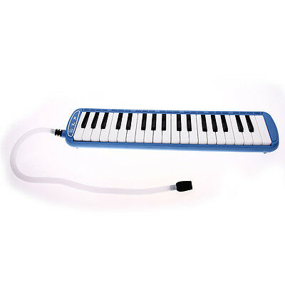 37 Keys Student Instructor Melodica Piano Style Harmonica + Oxford Gift Bag BLUE