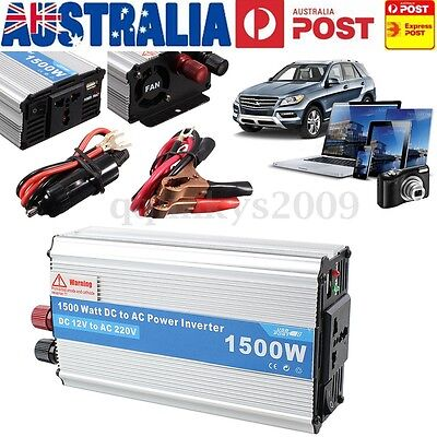 AU Electronic 1500W Car Trunk DC 12V to AC 220V Power Inverter Charger Converter