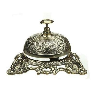 Ornate Solid Brass Hotel Counter Bell New