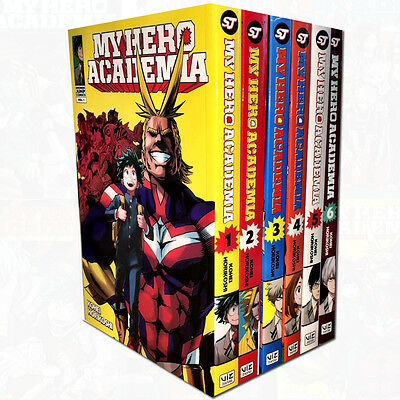 My Hero Academia Volume1-6 Collection Kohei Horikoshi 6 Books Set Childrens Pack