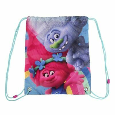 Children Kids Trolls Poppy & Guy Diamond Shoulder Shoe Gym Drawstring Swim Bag