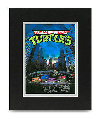 Peter Laird Signed 10x8 Photo Display Ninja Turtles Autograph Memorabilia COA