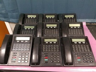 LOT OF 9 Samsung DCS 24B W/LCD 24 Button Office Telephones Black Phones TESTED!